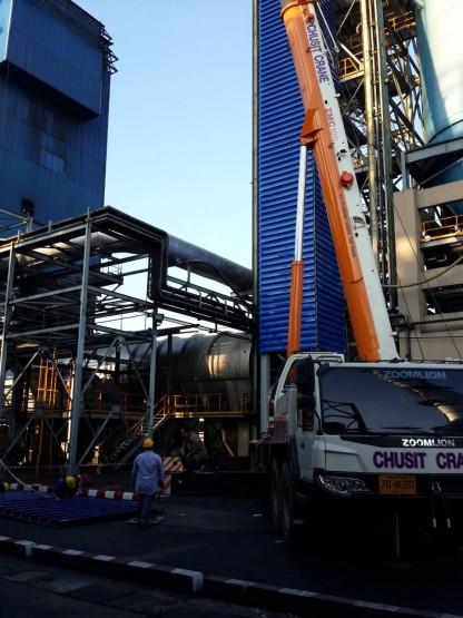 งานผลิต/ติดตั้งบานเกล็ดปล่องลิฟท์ สูง 60 เมตร 02