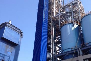 งานผลิต/ติดตั้งบานเกล็ดปล่องลิฟท์ สูง 60 เมตร