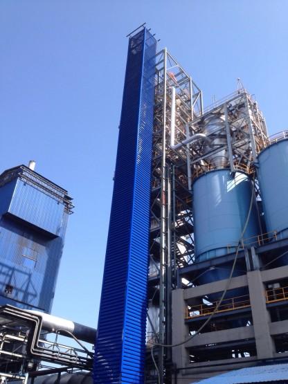 งานผลิต/ติดตั้งบานเกล็ดปล่องลิฟท์ สูง 60 เมตร 05
